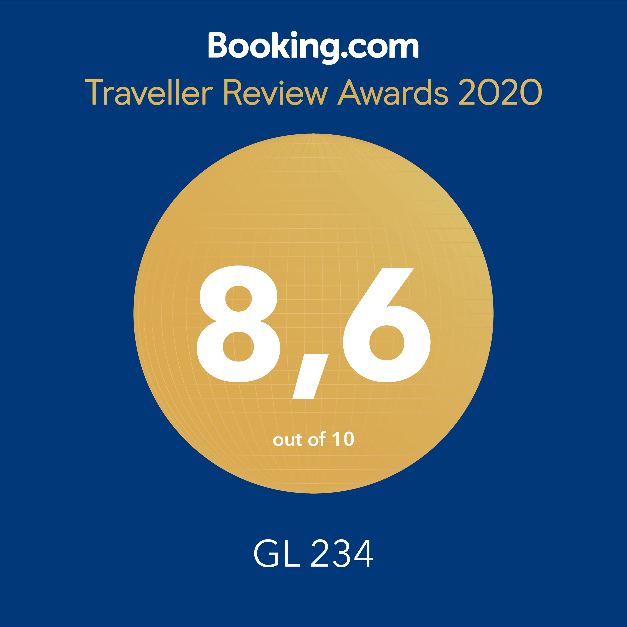 Booking.com Award 2020 GL-234