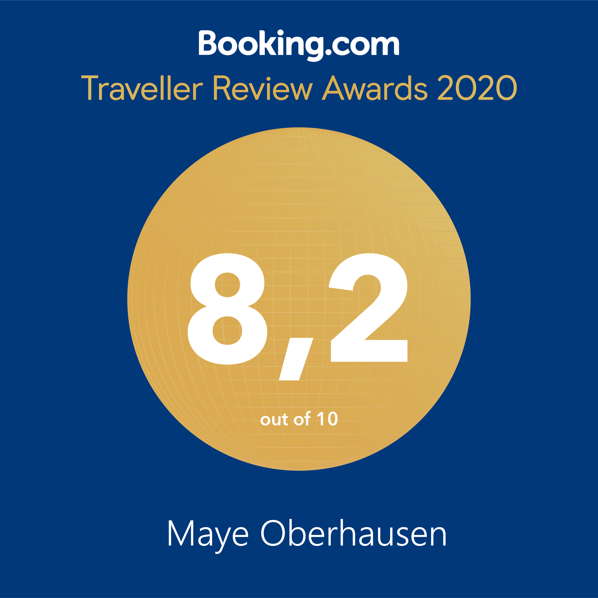 Booking.com Award 2020 Maye Oberhausen